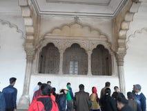 Deewan E Aam im roten Fort Agra lizenzfreie stockbilder