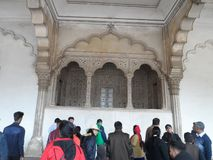 Deewan E Aam in red fort Agra royalty free stock images