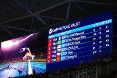 Def. van de polsstokspringenconcurrentie bij Rio2016-Olympics Stock Foto's