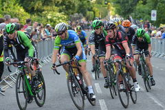 Def. van parelizumi tour series bicycle race in Bad Engeland Stock Foto's