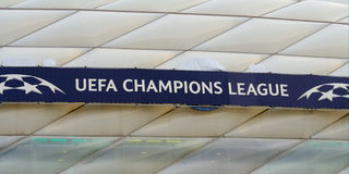 Def. van UEFA Champions League Stock Afbeeldingen