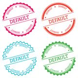 Default badge isolated on white background. Flat style round label with text. Circular emblem vector illustration Royalty Free Stock Photography
