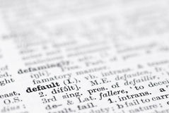 Default; Definition in English Dictionary. Royalty Free Stock Photography