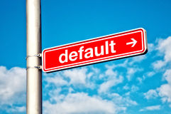 Default, directional sign Royalty Free Stock Image