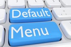 Default Menu concept Stock Photos