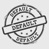 Default rubber stamp isolated on white background. Grunge round seal with text, ink texture and splatter and blots, vector illustration Stock Photo