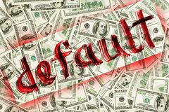 Default of USA dollar currency Royalty Free Stock Image