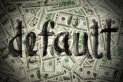 Default of USA dollar currency Stock Photo