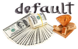 Default of USA dollar currency concept photo Royalty Free Stock Image