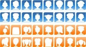 Default- van het beeldverhaal Avatars Royalty-vrije Stock Foto's