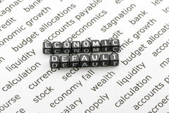Defaulted economy concept Stock Photography