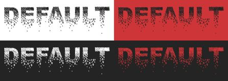 Defaulted. The stylized word default. Vector format Stock Images