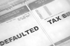 Defaulted Tax Bill with Blur Stock Photos