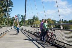 DeFazio Bike Bridge  Royalty Free Stock Images