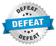 Defeat badge Royalty Free Stock Image
