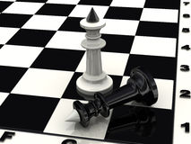 The defeat of black king Royalty Free Stock Photos