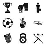 Defeat icons set, simple style. Defeat icons set. Simple set of 9 defeat vector icons for web isolated on white background Royalty Free Stock Photography