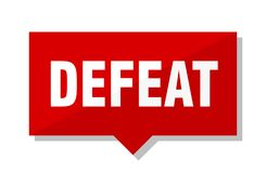 Defeat price tag. Defeat red square price tag royalty free illustration