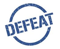 Defeat stamp. Defeat round grunge stamp. defeat sign. defeat royalty free illustration