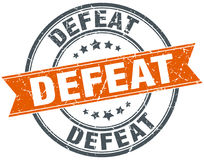 Defeat round grunge stamp Stock Photography