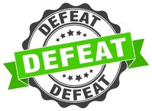 Defeat seal. stamp. Defeat round seal isolated on white background. defeat stock illustration