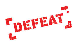 Defeat rubber stamp Royalty Free Stock Photo