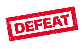 Defeat rubber stamp Stock Photography