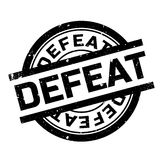 Defeat rubber stamp Stock Image