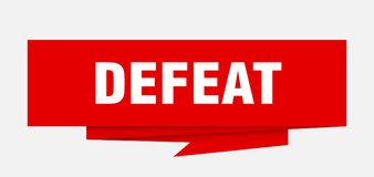 Defeat. Sign.  paper origami speech bubble.  tag.  banner vector illustration