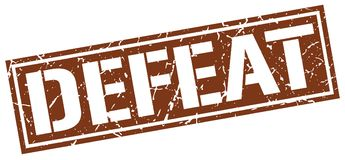 Defeat stamp. Defeat square grunge sign isolated on white. defeat vector illustration