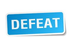 Defeat sticker. Defeat square sticker isolated on white background. defeat stock illustration