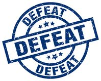 Defeat stamp. Defeat grunge vintage stamp isolated on white background. defeat. sign royalty free illustration