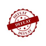 Defeat stamp illustration. Defeat red stamp illustration design Royalty Free Stock Photos