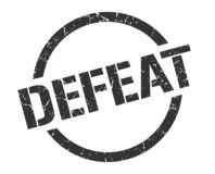 Defeat stamp. Defeat round grunge stamp. defeat sign. defeat vector illustration
