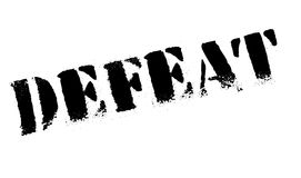 Defeat stamp rubber grunge. Defeat stamp. Grunge design with dust scratches. Effects can be easily removed for a clean, crisp look. Color is easily changed Stock Photos