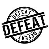 Defeat stamp rubber grunge Stock Images
