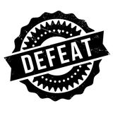 Defeat stamp rubber grunge Stock Photo