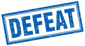 Defeat stamp. Defeat square grunge stamp. defeat sign. defeat royalty free illustration