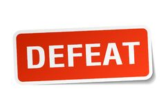 Defeat sticker. Defeat square sticker isolated on white background. defeat royalty free illustration
