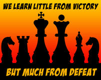 Defeat victory Royalty Free Stock Photo