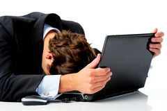 Defeated businessman Stock Images