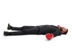 Defeated businessman Stock Photos