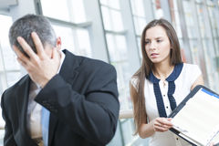 Free Defeated Businessman Turns Away Form Coworker Royalty Free Stock Photo - 31842865