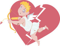 Defeated Cupid Royalty Free Stock Photography