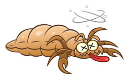Defeated louse Royalty Free Stock Image