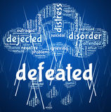 Defeated Word Represents Text Overpower And Trounce Stock Photo