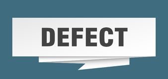 Defect. Sign.  paper origami speech bubble.  tag.  banner vector illustration