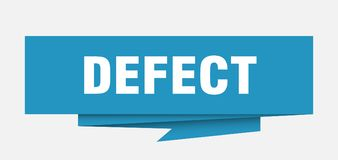 Defect. Sign.  paper origami speech bubble.  tag.  banner royalty free illustration