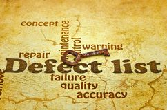 Defect List Royalty Free Stock Image