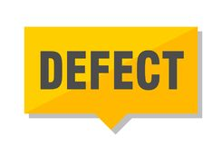 Defect price tag. Defect yellow square price tag stock illustration